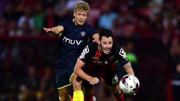 Lloyd Isgrove, left, hit the winner as Southampton beat Bournemouth on Friday