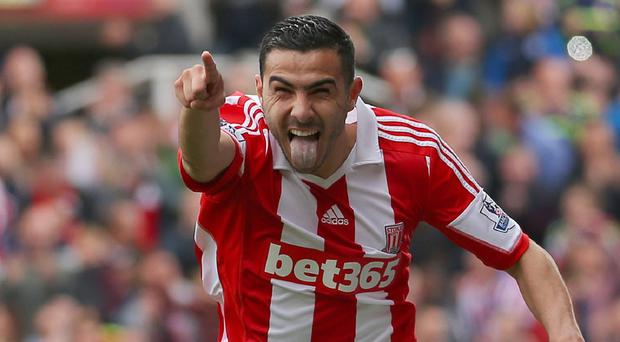 Oussama Assaidi spent last season on loan at Stoke City