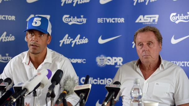 Rio Ferdinand, left, is delighted to be reunited with Harry Redknapp, right