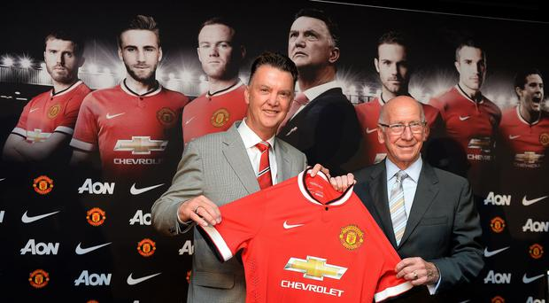 Louis van Gaal, left, has left Sir Bobby Charlton hugely impressed