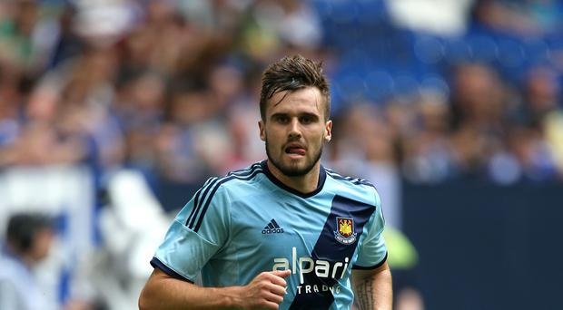 Carl Jenkinson in action for West Ham against Malaga