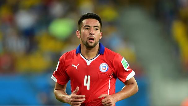 Mauricio Isla reached the World Cup quarter-finals with Chile this summer