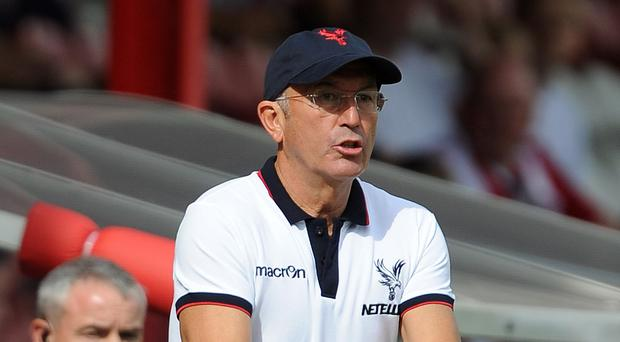 Arsene Wenger was surprised to hear Tony Pulis, pictured, had left Palace