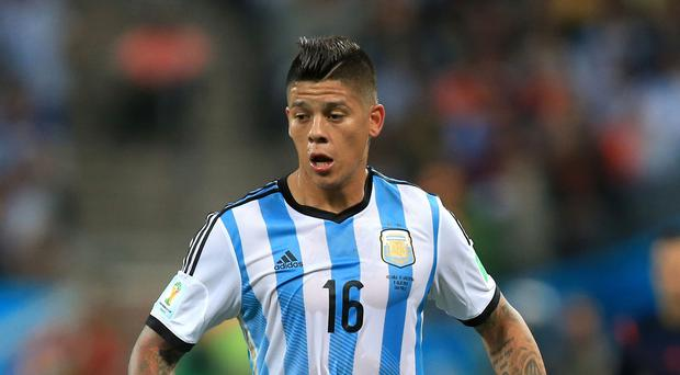 Argentina international Marcos Rojo has completed his move to the Premier League