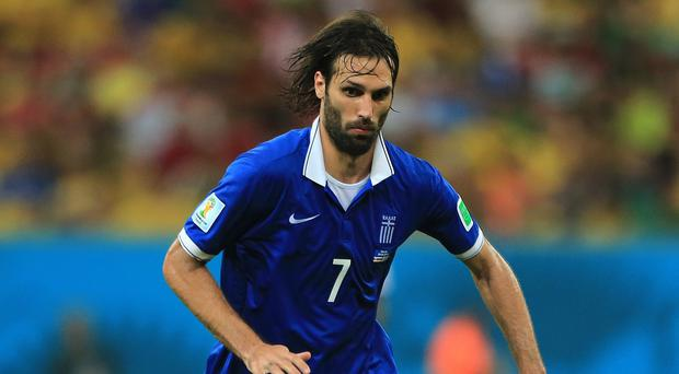Georgios Samaras, who was part of Greece's World Cup squad, could join West Brom after leaving Celtic