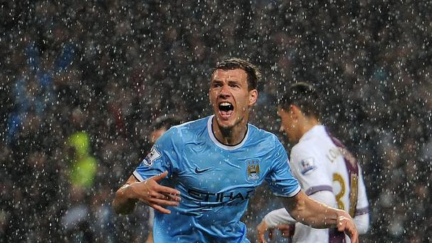 Manuel Pellegrini has been impressed with the form of Edin Dzeko