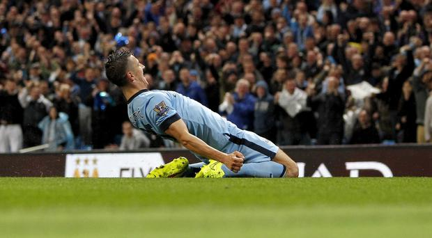 Stevan Jovetic was on target twice in Manchester City's comfortable win over Liverpool
