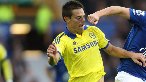 Chelsea's Cesar Azpilicueta, left, knows his side must defend better than they did at Goodison Park