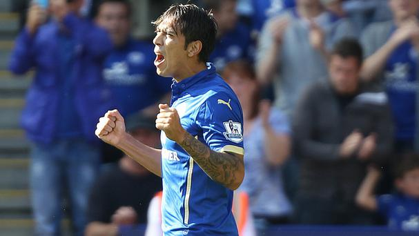 Leonardo Ulloa was on target against Arsenal