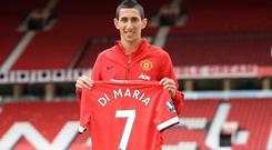 Angel di Maria completed his £59.7m move to Manchester United last week