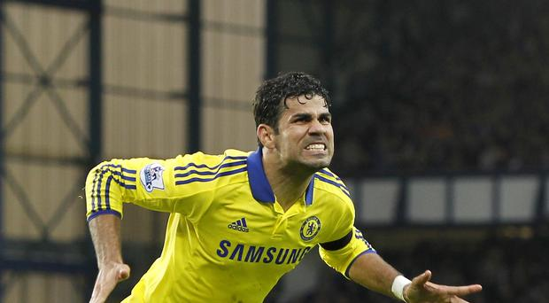 Chelsea's Diego Costa has a hamstring problem