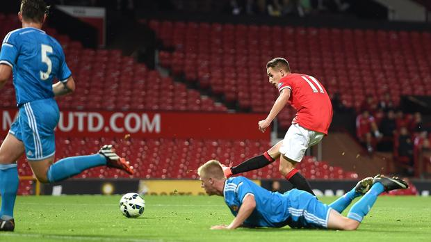 Adnan Januzaj staked his claim for a first-team starting berth with a treble for the under-21s
