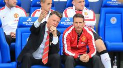Louis van Gaal, left, is trying to remain philosophical about Manchester United's slow start