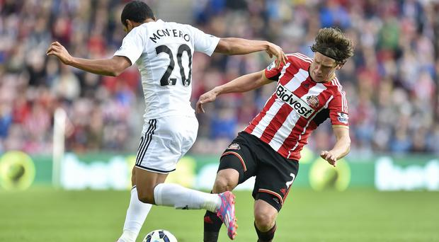 Billy Jones, right, is not panicking at Sunderland's lack of wins