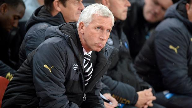 It was another difficult night for Alan Pardew and Newcastle