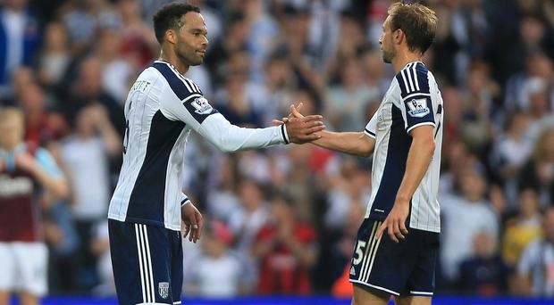 Joleon Lescott, left, and Craig Dawson, right, have yet to concede a goal playing together
