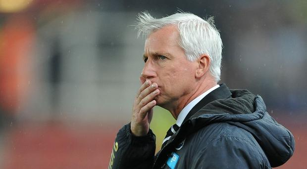 Newcastle manager Alan Pardew's job is under no immediate threat