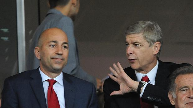 Ivan Gazidis, left, and Arsene Wenger