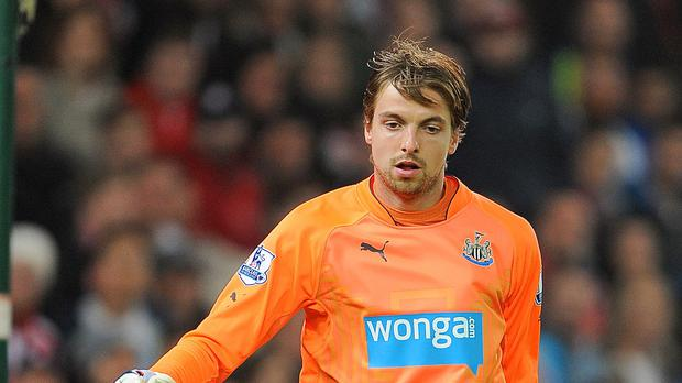 Tim Krul suffered elbow ligament damage while training with Holland
