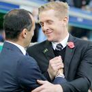 Everton manager Roberto Martinez, left, and Swansea boss Garry Monk, right, both took a share of the spoils