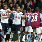 Christian Benteke, left, will serve a three-match ban for his dismissal against Tottenham