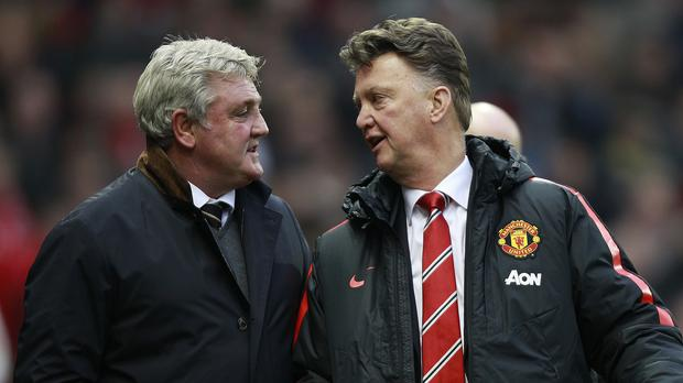 Manchester United boss Louis Van Gaal, right, got the better of Hull manager Steve Bruce