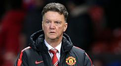 Louis van Gaal, pictured, has defended his decision to leave out Radamel Falcao