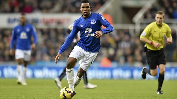 Samuel Eto'o scored four goals in 20 appearances for Everton