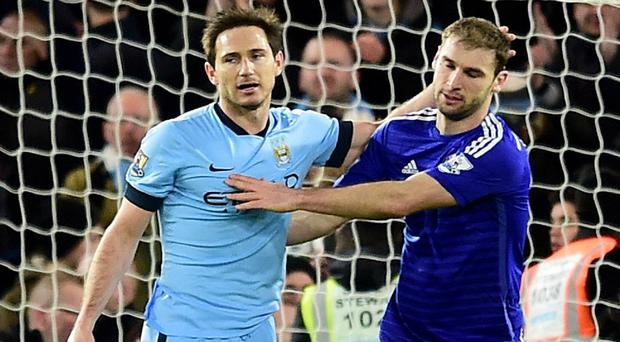 Frank Lampard, left, is targeting a fourth Premier League title and a first with Manchester City