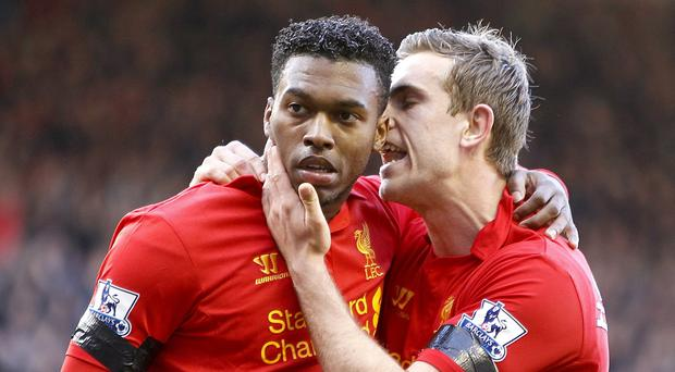 Jordan Henderson, right, welcomed Daniel Sturridge's return