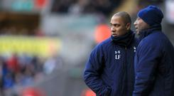 Les Ferdinand, left, and Chris Ramsey, right, both worked with Tim Sherwood at Tottenham