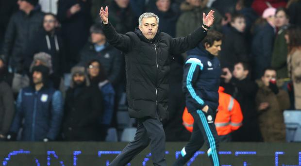 Jose Mourinho saw his side claim another vital three points in their title bid