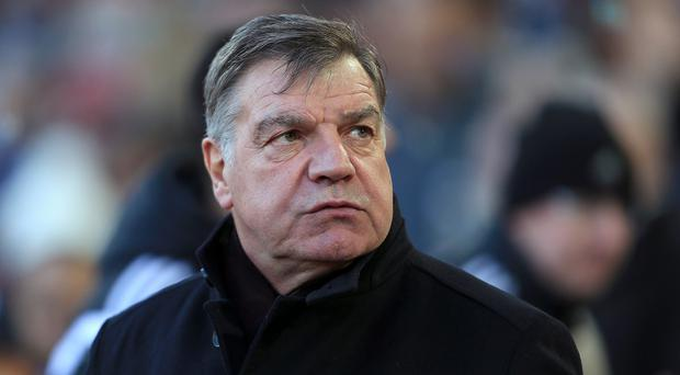 West Ham manager Sam Allardyce, pictured, was unhappy with a Robin van Persie challenge in Sunday's draw with Manchester United