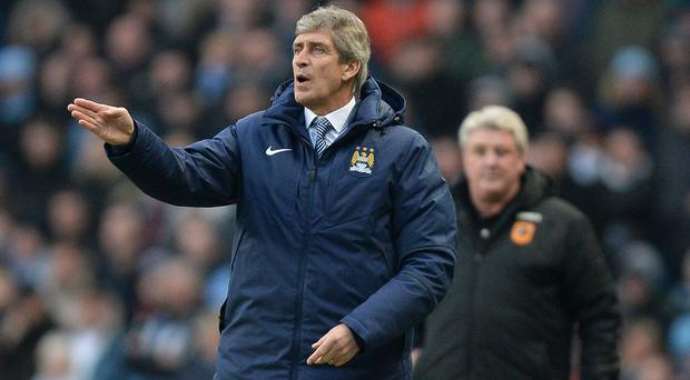Manchester City manager Manuel Pellegrini insists he does not feel the pressure