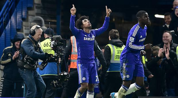 Willian scored a late winner for Chelsea mid-week. It was one of the four correct predictions from an Irish punter that resulted in a €19,305 return from a €5 bet.