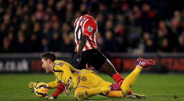 West Ham goalkeeper Adrian saw red against Southampton