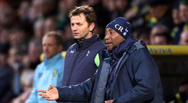 New QPR boss Chris Ramsey, right, worked closely with Tim Sherwood, left, during their time at Tottenham