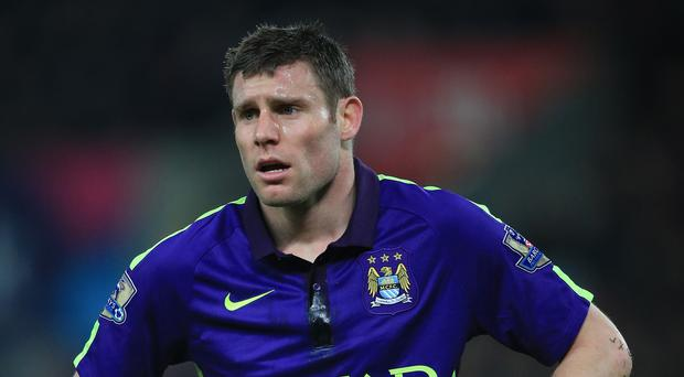 Manchester City's James Milner will not feature this weekend