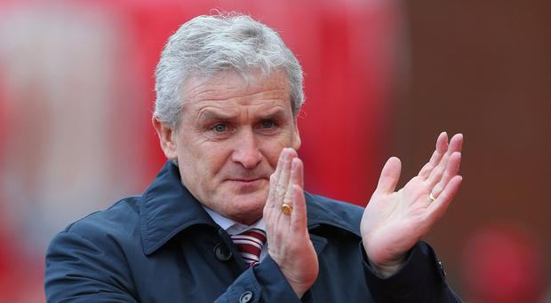 Stoke manager Mark Hughes, pictured, is eager to spoil Tim Sherwood's first game as Aston Villa boss