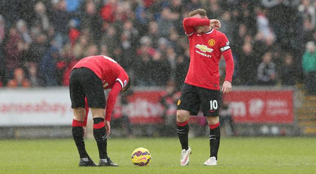 Manchester United suffered another defeat to Swansea