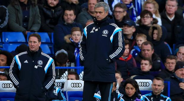 Jose Mourinho, pictured, was not happy with the refereeing at Stamford Bridge