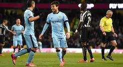 Manchester City's five-star display pleased their manager