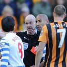 Joey Barton saw red against Hull