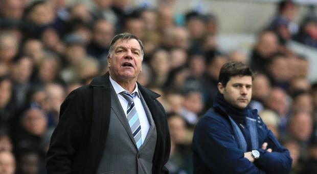 West Ham manager Sam Allardyce, left, was unhappy that his side left Tottenham with only a point.