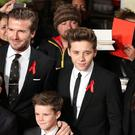 Brooklyn Beckham, centre, has been playing at Arsenal's Hale End academy