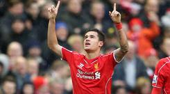 Philippe Coutinho scored the winner at Anfield