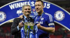 Mourinho won the Premier League title and the League Cup in his second spell as Chelsea manager