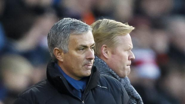 Chelsea manager Jose Mourinho and Southampton boss Ronald Koeman, pictured right, worked together at Barcelona