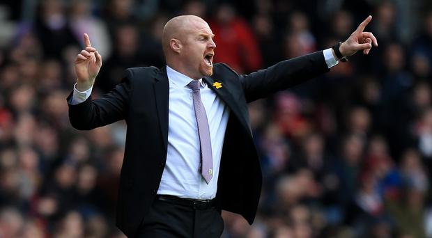 Sean Dyche, pictured, is a potential future England manager, according to Burnley defender Michael Duff
