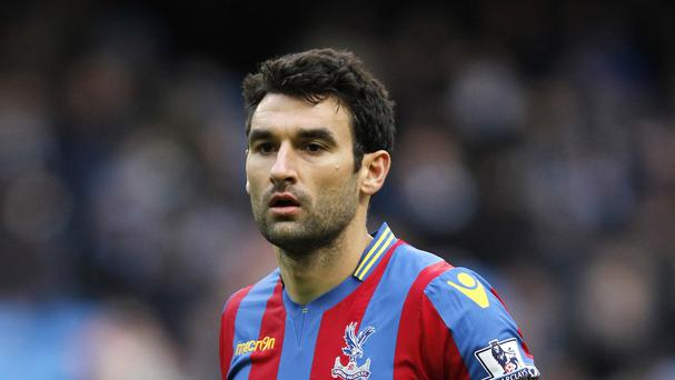 Crystal Palace's Mile Jedinak will serve the last of a four-match suspension